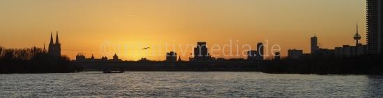 Köner Stadt Silhouette Panorama
