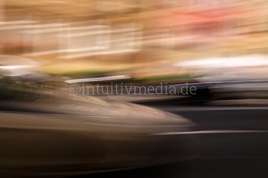 Abstraktes Fotos mit Bewegung