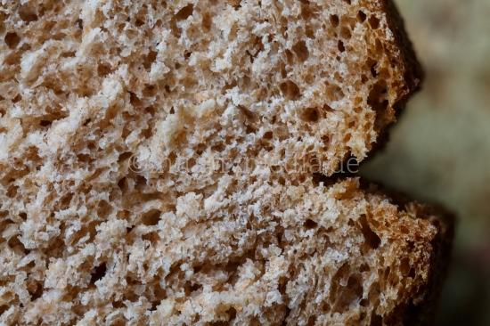 Nahaufnahmen von Brotkruste