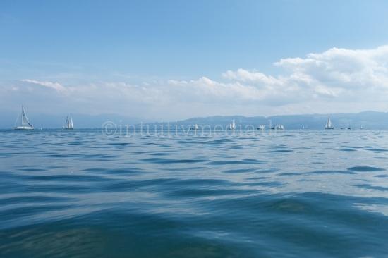 See Panorama mit Segelboten