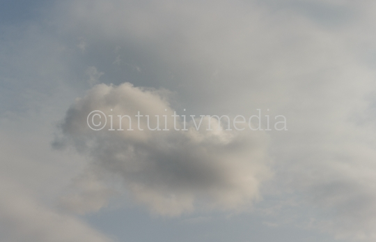 Eine zarte Wolke