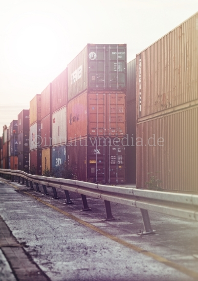 Container Lager am Hafen