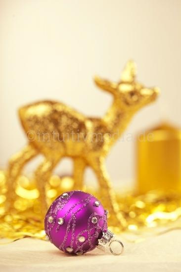 Goldenes Reh -Weihnachtsmotive