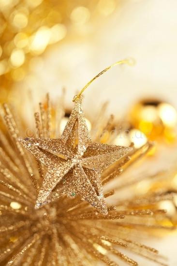 Weihnachtsmotive - goldener Stern