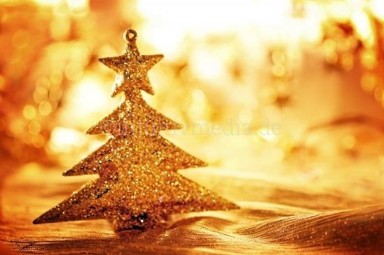 Goldener Christbaum -Weihnachtsschmuck