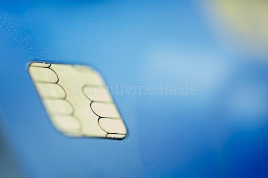 Chip einer Bankkarte