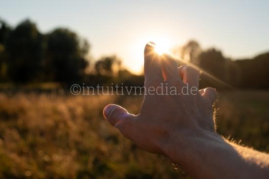 Hand im Gegenlicht