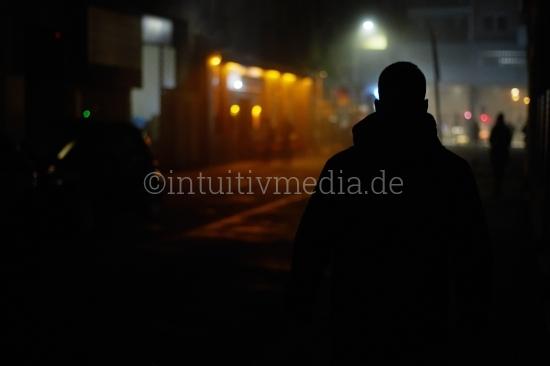 Gestalt in der Nacht