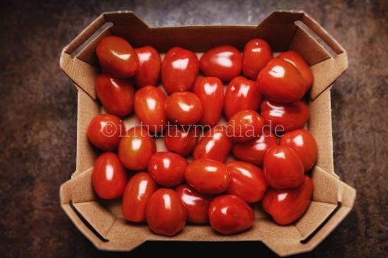 Tomaten im Karton