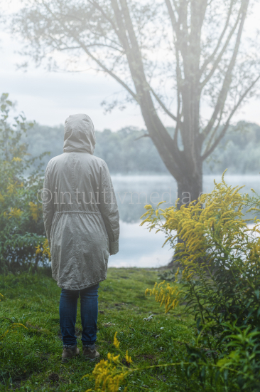 Depression standing in the rain