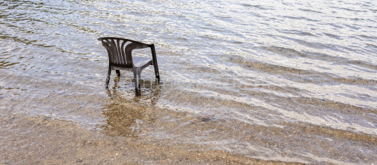 Chair in the water