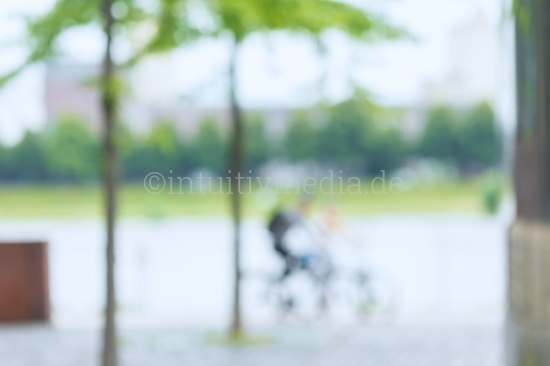 Blurred Background green cicle