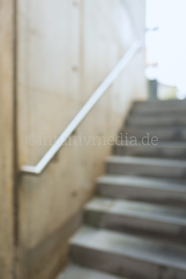 Concrete Stair Background blurred