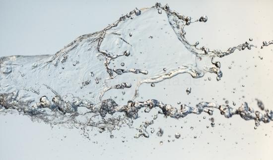 Wasser in der Luft - Nahaufnahme