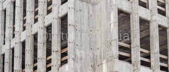 Baustelle heller Beton