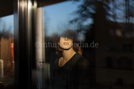 Models im Schaufenster