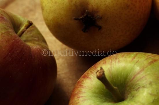 Äpfel und Birne