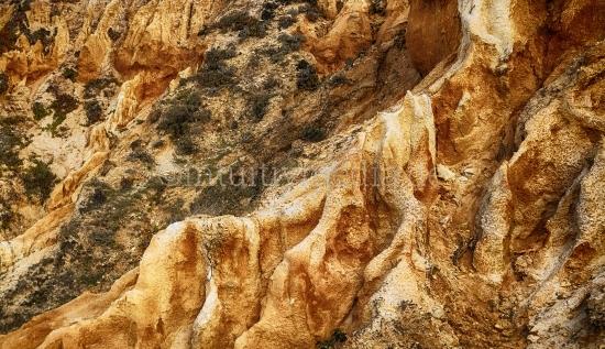 Sandstein Landshaft Algarve