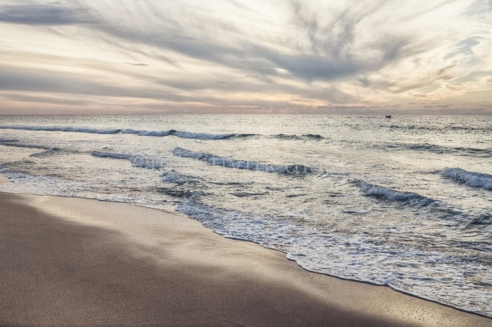 Strand Panorama am Abend