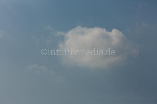 Einzelne Wolke