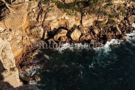 Mallorcas Felsküste von oben