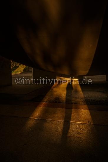 Abstrakte Schatten einer Gestalt