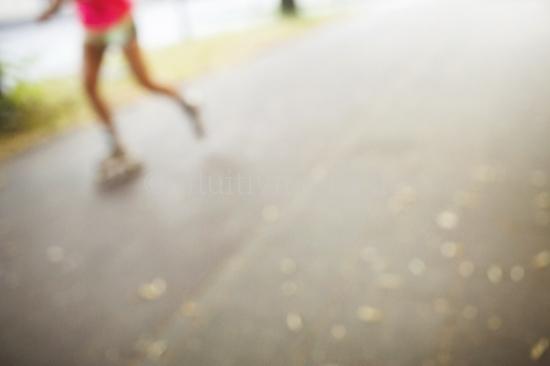 Inline Skater in der Stadt