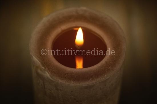 Kerze von Oben