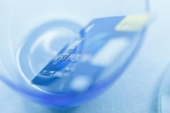 Kreditkarte mit Unschärfe
