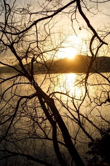 Sonnenuntergang am Laacher See