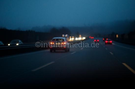 Autobahn - Nacht und Nebel