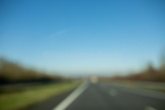 Autobahn unscharf