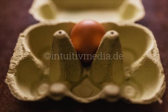 Ei in Eierschachtel