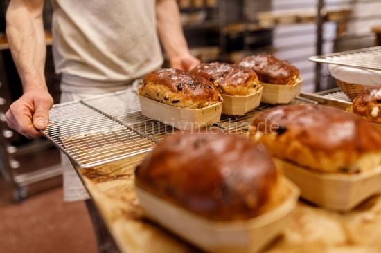 Rosinenbrot- Bäckerei - Closeup