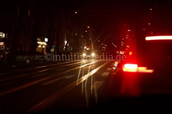 Köln at night - traffic